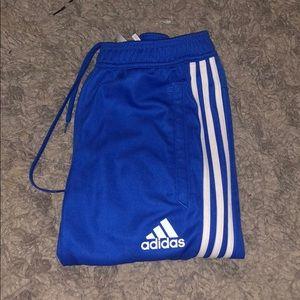 Blue adidas pants